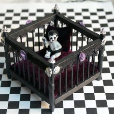 dollhouse miniature spooky baby ghoul in a by nightfallminiatures 2500