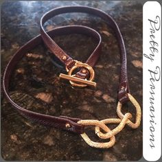 "NEW Gorjana Leather & Gold Chain Link Necklace NEW Gorjana Leather & Gold Chainlink Necklace   MSRP $95.00  This leather necklace features textured gold-plated links and a ring-and-toggle clasp. Comes with box & care card as well.   * 18.5"" long. * Made in the USA.  Fair offers welcome  Bundle discounts available  No pp or trades Gorjana Jewelry Necklaces"
