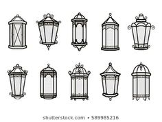 Similar Images, Stock Photos & Vectors of Print - 132483842 China Architecture, Architecture Drawing Art, Art Drawings Sketches, Easy Drawings, Arte Sharpie, Lantern Drawing, Full Sleeve Tattoo Design, Doodle Characters, Drawing Clipart