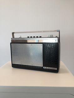Stylish german vintage transistor radio from blaupunkt 1968