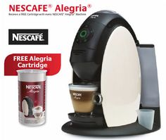 Nescafe Alegria A510 Machine 2.0 Litre with Free Cartridge 115gm.  While stocks last, available until 24th December 2012.