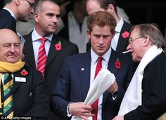Charity: The Royal was at the game as part of one of his public roles, the Vice Patron of the Rugby Football Union