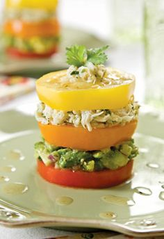 Tomato and Crab Stacked Salad