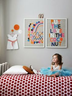 Kids room - Put the Love in the Coconut by Rachel Castle. Kids room and nursery ideas Girls Bedroom, Bedroom Decor, Bedroom Ideas, Nursery Ideas, Master Bedroom, Casa Kids, Modern Kids, Kids Room Design, Deco Design