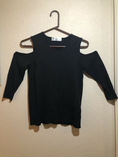 2ebd5854a58 Black Cold Shoulder Top Time And Tru Small #fashion #clothing #shoes  #accessories