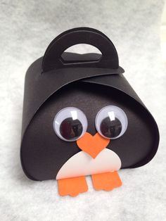 """Happy Feet "" fun with Stampin' Ups Curvy Keepsake Box Thinlits die made by Val Kobayashi. . ."