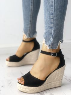 28761f8055a2 Ankle Strap Espadrille Wedge Sandals Womens Shoes Wedges