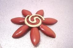 Vintage Brooch Celluloid Flower Pin P520 by JewelsAndMyGirls3, $15.00
