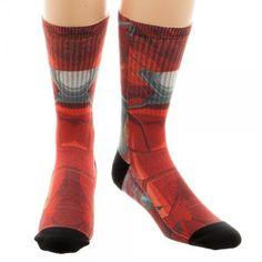 0faa0ded02a70 Iron Man Captain America Civil War Marvel Sublimated Adult Crew Socks  #IronMan #Crew Iron