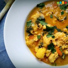Koolhydraatarme gele curry | gobento.nl
