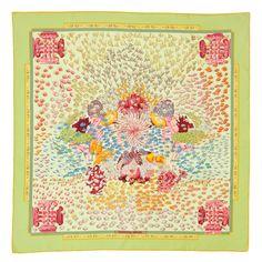 "HERMÈS, a silk scarf, ""Rencontre Oceane"". App 87 x 87 cm.. - Vintage & Jewellery, Stockholm S201 – Bukowskis"