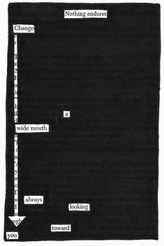 black out poetry – Page 4 – C. A Separate Peace, Found Poetry, Bitch, Blackout Poetry, Altered Book Art, Writing Poetry, Haiku, Mood Quotes, Poems