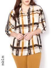 Plus Size mblm Plaid Button Down Shirt | Penningtons $50