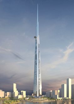 The Jeddah tower of Saudi Arabia will surpass Burj Khalifa of Dubai. It will become world's tallest skyscrapers who dares to go beyond kilometer threshold. Jeddah, Futuristic Architecture, Amazing Architecture, Architecture Design, Building Architecture, Installation Architecture, High Rise Building, Chrysler Building, Amazing Buildings