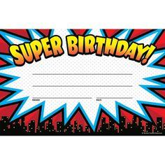 Superhero Super Birthday Awards by Teacher Created Resources - Superhero Super Superhero Classroom Theme, Superhero Room, Classroom Themes, School Classroom, Superhero Party, Future Classroom, Classroom Organization, Teaching Activities, Classroom Activities