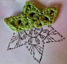 How to crochet stars step by step with patterns Como tejer estrellas en crochet paso a paso con patrones crochet stars step by step Crochet Diy, Crochet Bolero, Crochet Diagram, Crochet Motif, Crochet Crafts, Crochet Stitches, Crochet Projects, Crochet Patterns, Crochet Appliques