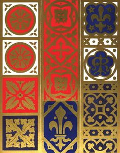 A.W. N. Pugin. Various pattern designs for stoles and maniples, 1844.