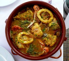 Suquet de pescado Wine Recipes, Cooking Recipes, Healthy Recipes, Good Food, Yummy Food, Spanish Dishes, True Food, Seafood Dishes, Seafood Stew