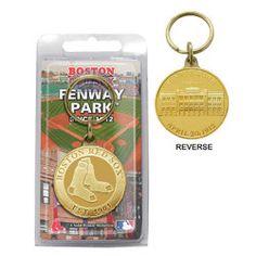 Boston Red Sox Bronze Key Chain