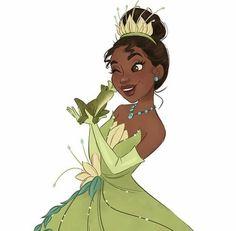 Tiana illustration - Princess and the Frog Princesa Tiana Disney, Kida Disney, Disney Princess Tiana, Frog Princess, Disney Girls, Tangled Princess, Princess Merida, Princess Bubblegum, Disney Princesses