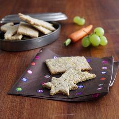 Sunde småkager / grovkiks med et skive figenpålæg - uden sukker