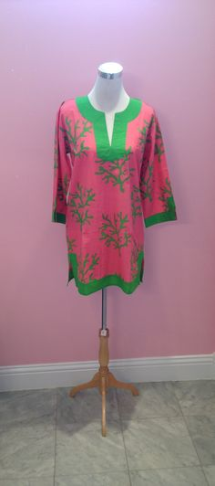 Pink and Green Coral Reef Tunic