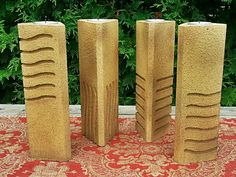 Picture of The Fifth Element Stones Pillar Candle Holders - Forget the candle part, I'd be glad with just statues! Need to learn to do this.