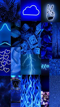 Aethstetic blue wallpaper