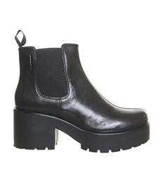 Buy Black Leather Vagabond Dioon Elastic Chelsea Boots Exclusive from OFFICE.co.uk.