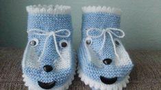 Köpekli Bebek Patiği Yapımı | Kadınların Günlüğü Knit Baby Dress, Knitted Baby Clothes, Crochet Baby Shoes, Crochet Slippers, Viking Tattoo Design, Viking Tattoos, Pepe Jeans, Under Armour, Moda Emo