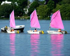 eBook Travel Guides and PDF Chapters from Lonely Planet: Pink sailboats in the Hanseatic City of Hamburg