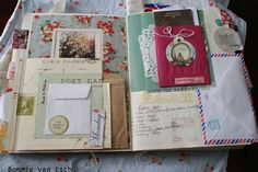 JUNK JOURNAL DETAILS - Living Life Creatively: Journal the Details 4/26/11. Beautiful Travel Journal!