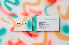 Cocolia Identity - spray paint business card patterns. So unique!