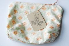 hand sewed makeup bag for christmas gift
