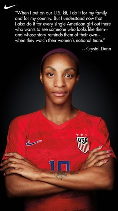 Crystal Dunn knows who she puts the US national team kit on for, and she's waited four years for this moment. Soccer Aid, Usa Soccer Team, Soccer Players, Football Soccer, Soccer Cleats, Football Things, Live Soccer, Soccer Guys, Soccer Sports