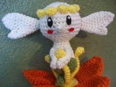 Flabebe Pokemon Character - Free Amigurumi Pattern http://katscreations.blogspot.com.es/2014/05/flabebe.html