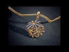 DESIGNER GOLD PENDANTS BY BLUESTONE - YouTube
