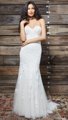 IVY & ASTER bridal spring 2017 strapless sweetheart trumpet lace wedding dress (liberty) mv  #bridal #wedding #weddingdress #weddinggown #bridalgown #dreamgown #dreamdress #engaged #inspiration #bridalinspiration #weddinginspiration #weddingdresses
