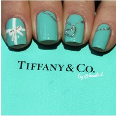 tiffany and co inspired nails♡