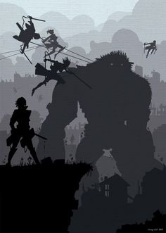 Attack on Titan and Shadow of the Colossus. Attack on Colossus! OH MY GOODNESS YES