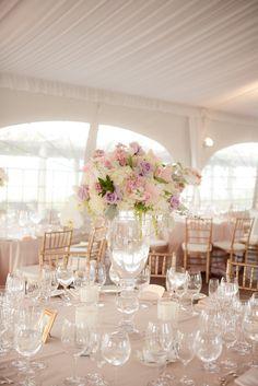 soft pink wedding table decor