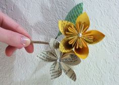 DYI paper flower book pages | visit boards weddingbee com