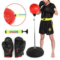 #Punch bag ball and mitts #gloves kit boxing set for adult free #standing new box, View more on the LINK: www.zeppy.io/...
