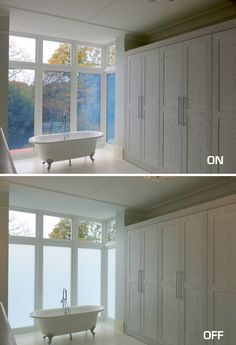 #smartglass  #privacyglass Have you ever wanted to instantly block out outdoor visibility when inside a changing room or bathroom? Its possible with DreamGlass! With the flick of a switch, you can choose privacy or visibility!