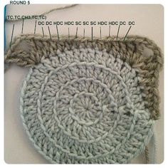 #Crochet #Tutorial - Circles in Squares - Lots of photos and clear instructions.
