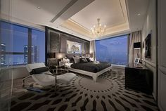 Another beautiful master bedroom. I want a HUGE room and a beautiful view and I know I will live somewhere that has just that.