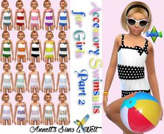 Annett's Sims 4 Welt: Accessory Swimsuits for Girls - Part 2