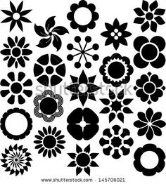 Find Set Vectorized Flowers stock images in HD and millions of other royalty-free stock photos, illustrations and vectors in the Shutterstock collection. Mandala Doodle, Mandala Art, Doodle Art, Floral Pattern Vector, Motif Floral, Cute Coloring Pages, Free Printable Coloring Pages, Dot Painting, Stone Painting