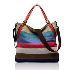 'Sorrento' Canvas Hobo Crossbody Bag Shoulder Bag – Universal Store London™