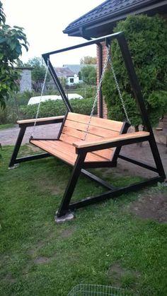 Welded Furniture, Iron Furniture, Steel Furniture, Furniture Design, Garden Furniture, Backyard Patio Designs, Backyard Projects, Metal Projects, Welding Projects